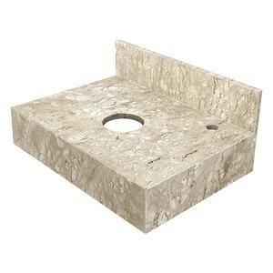 Pia de banheiro de mármore